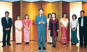 タイ王国総領事夫妻もかけつけてのお祝い